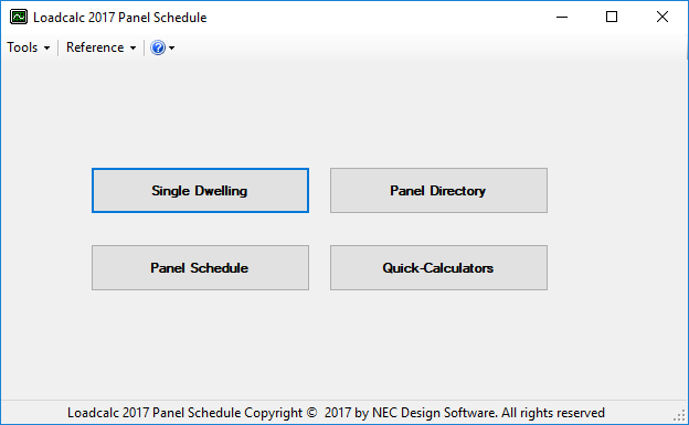Loadcalc 2014 Panel Schedule Screen shot